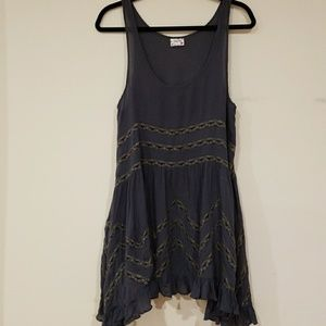 Free People Voile and Lace Trapeze Slip size M